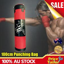 OZ 100cm Heavy Duty Punching Training Bag Boxing Martial Arts Kicking Sandbag