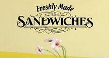 Freshly Made Sandwiches Cafe Restaurant Pub Vinyl wall art Decal Sticker