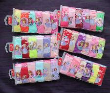 6er-Set Mädchen Slip Kinder Baumwolle Unterwäsche Prinzessin Sofia 3-14 Jahre