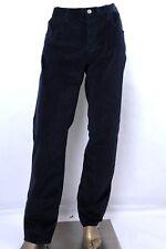 Gucci Men Dark Blue Regular Velvet Corduroy Pants w/Horsebit on Back 353592 4379