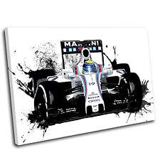 Felipe Massa Formula One Canvas Splatter Art Print  - Gallery Grade