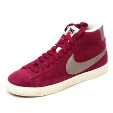 C0065 sneaker donna NIKE blazer mid rosso lampone scarpa shoe woman