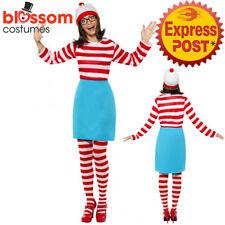 CL192 Wheres Wally Ladies Fancy Dress Costume 80s Wenda Womens Cartoon Book Week