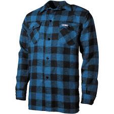 Fox Outdoor Lumberjack Camisa Franela Hombre Largo Manga Azul Nero Cuadros