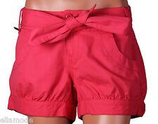 Fenchurch Mujer Algodón Rosa Atado a la cintura pantalones cortos con 28GB