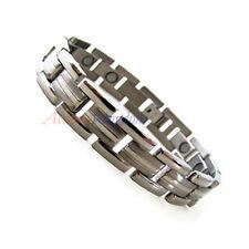 Accnets Kingdom Mens Premium Magnetic Power Titanium Golf Bracelet T25