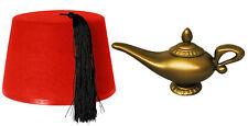 Fez chapeau Magic genie Lampe Plastique Or Déguisement pantographe Prop Costume Accessoire
