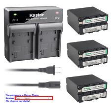 Kastar Battery Quick Charger for Sony Np-F990 Hvr-Dr60 Hvr-Hd1000 Hvr-M10 Hvr-V1