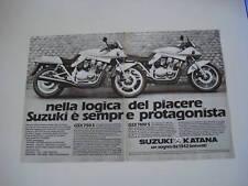 advertising Pubblicità 1982 MOTO SUZUKI GSX 1100/750 S