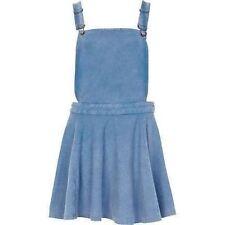 River Island Blue Acid Wash PinnyDress Dungaree Skater Skirt
