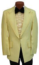 True Vintage Yellow Tuxedo Jacket with Ruffle & Bow Tie 1970's Halloween Costume