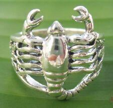 "925 sterling silver plain OXIDISED ""Scorpion"" Ring size 6.5 7.75 8.75 Women GIRL"