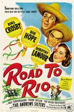 Road to Rio Bing Crosby vintage movie poster print #2