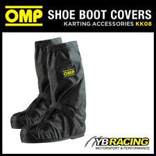 KK08 OMP NYLON RAINPROOF KART KARTING BOOT COVERS - PUT OVER RACE BOOTS IN RAIN!