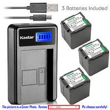 Kastar Battery LCD Charger for Panasonic VW-VBG260 & SDR-H40P SDR-H41 SDR-H50