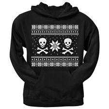 Skull & Crossbones Ugly Christmas Sweater Black Pullover Men's Hoodie Sweatshirt