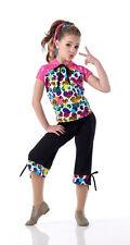 Hip Hop Dance Costume Capri Pant Hoodie STEREO HEARTS CXS-2XL