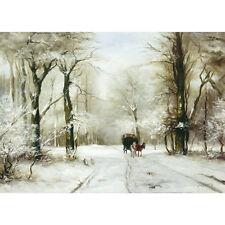 Route forestière dans la neige-L APOL Imprimer