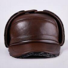 Uomo pelle Colbacco Cappello Baseball Ushanka Caccia Earrings Pattina