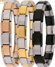 Italian stainless steel bracelet Charms Starter Bracelet unisex FREE GIFT BOX
