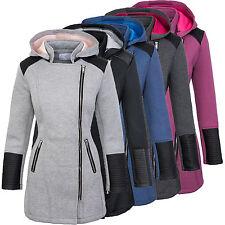 Designer damen mantel jacke übergangsjacke damenmantel kapuze lang D-248 S-XL