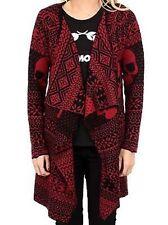 Iron Fist My Christmas Drape Sweater Red Skulls Xmas Holiday Womens Xs-Xxl