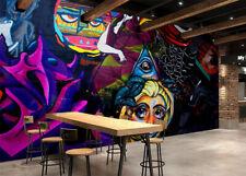 3D Girl Eyes Graffiti 432 Wall Paper Wall Print Decal Wall AJ WALLPAPER CA