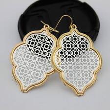 Gold Plating Filigree Moroccan Dangle Drop Earrings for Women