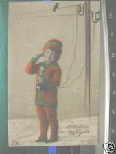 3056 Foto AK Mädchen im Winter mit Telefon 1.1.1928 PC