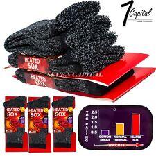 New 3 Pairs Mens Heated Winter Warm Thermal Boot Heavy Duty Sox Socks Size 10-13