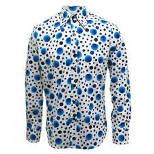 Chenaski  70s Retro Vintage Dots & Spots Blue Psychedelic Hippy Pop Art Shirt