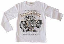 T-SHIRT BAMBINO a MANICA LUNGA Maglietta Moto Bimbo MAGLIA Maniche LUNGHE Kids