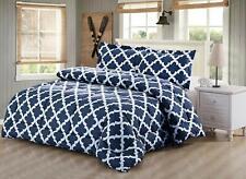 Luxury Supersoft Goose Down Alternative Comforter Twin Queen King Size, Navy