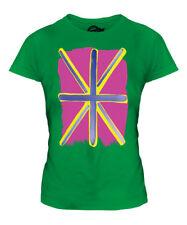 POP ART UNION JACK LADIES FASHION PRINT T-SHIRT TOP GREAT BRITAIN FLAG GB TEAM