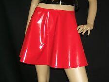 New shiny red pvc flared skater mini skirt.  All sizes