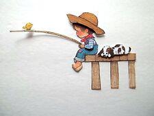 3D - U Pick - SP4 Fishing Boy Girl Canoe Cabin Bear Scrapbook Card Embellishment
