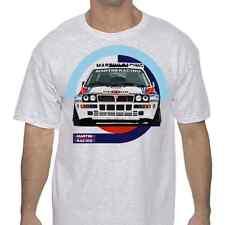 Lancia Delta Integrale Classic Rally T Shirt White or Gray Martini Racing