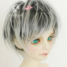 BJD Doll Wig SD Pullip Blythe 8-9 MSD YOSD BB OB11 Dal Toy Head Black Mix Hair