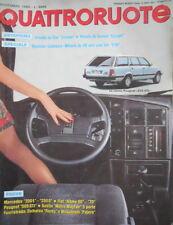 Quattroruote 361 1985 Prove Peugeot 505GTI,Mercedes 200E-250D.La nuova Croma