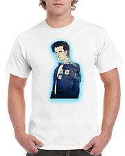 New Unisex Doctor Who Matt Smith Tardis Short Sleeve Novelty T-Shirt White
