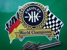 KREIDLER Motor Rad Flag & Scroll Helmet or Motorcycle STICKER Moped Road Race TT