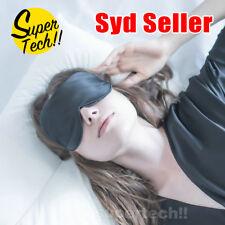 100% Pure Silk Sleeping Sleep Soft Eye Mask Blindfold Lights Out Travel Relax AU