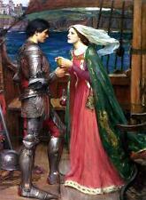 Waterhouse Tristan e Isolde pre raphaelite Canvas Arte Poster Stampa Pittura