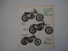 advertising Pubblicità 1969 MOTO ITALJET 100 CROSS/175 CROSS/CZ 360 MC