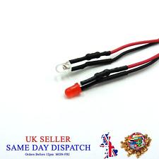 3mm 12V DC Light Emitter Bright Pre-Wired LED 20cm Cable Diode + Holder