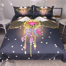 Pair Wings Peach Red Love 3D Digital Print Bedding Duvet Quilt Cover Pillowcase