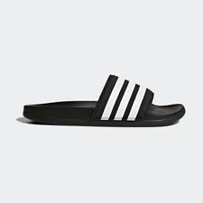 New Adidas Womens ADILETTE COMFORT AP9966 BLACK   WHITE US W 5 - 10 TAKSE 1057ab429
