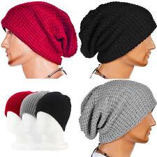 Men's Women Beanie Knit Ski Cap Hip-Hop Blank Color Winter Warm Unisex Knit Hat