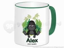 Personalizado Gorila Animal Selva tema Té Café Taza De Cerámica Taza Regalo Personalizado