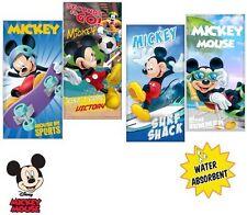 Childrens oficial con licencia de Mickey Mouse Agua Absorbente Toalla de playa de vacaciones